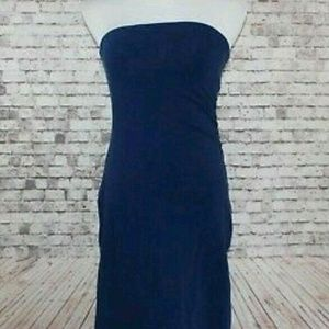 Victoria Secret Navy Bra Tops Strapless Maxi Dress